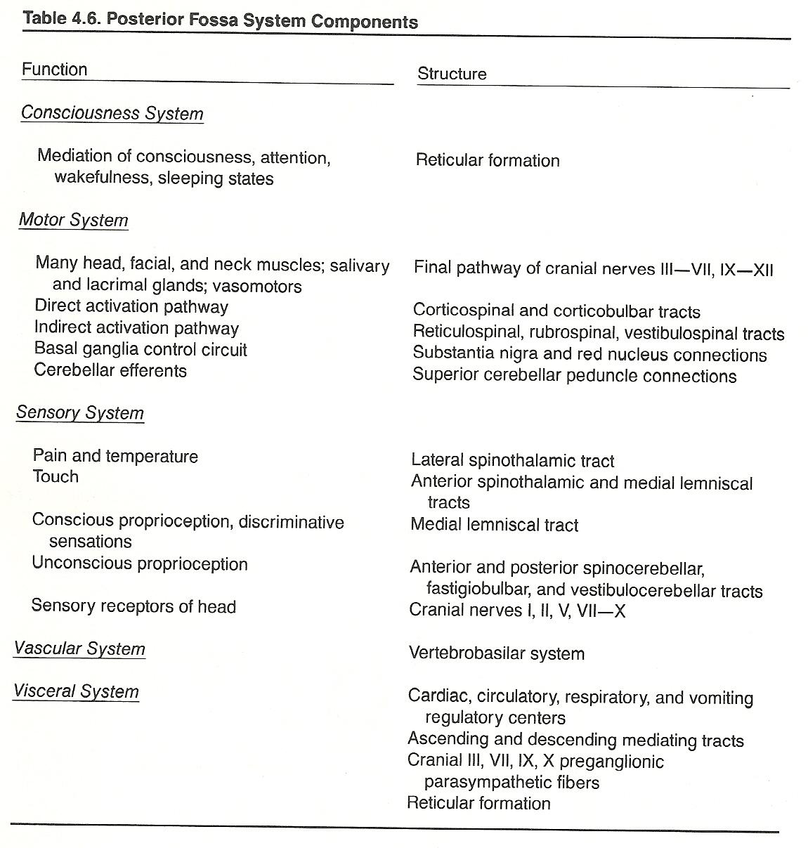 brain stem lesion symptoms CHAPTER 4. THE HORIZONTAL NEUROLOGIC LEVELS