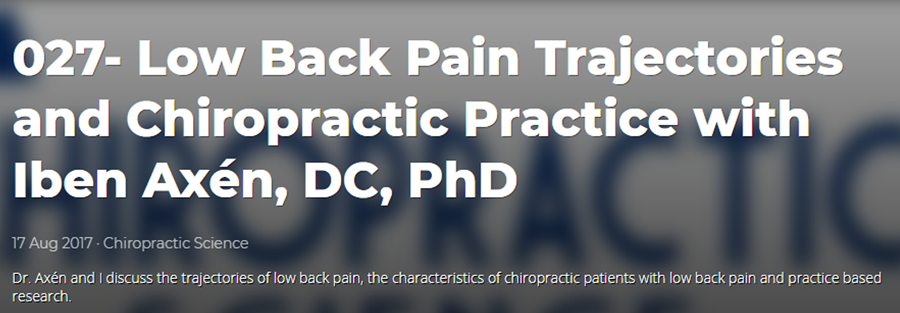 An Observational Study on Trajectories and Outcomes of Chronic Low Back Pain Patients Referred From a Spine Surgery Division for Chiropractic Treatment