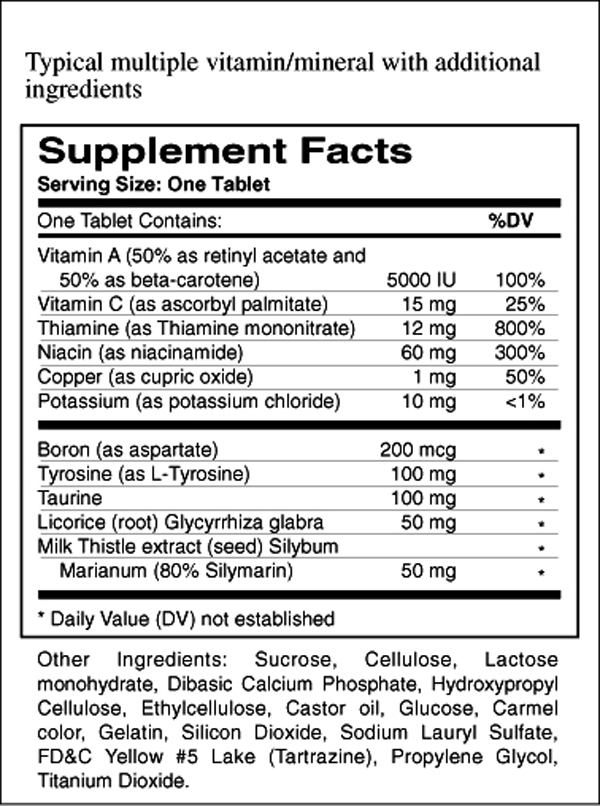 supplement facts template - perfect nutrition facts panel template ornament example