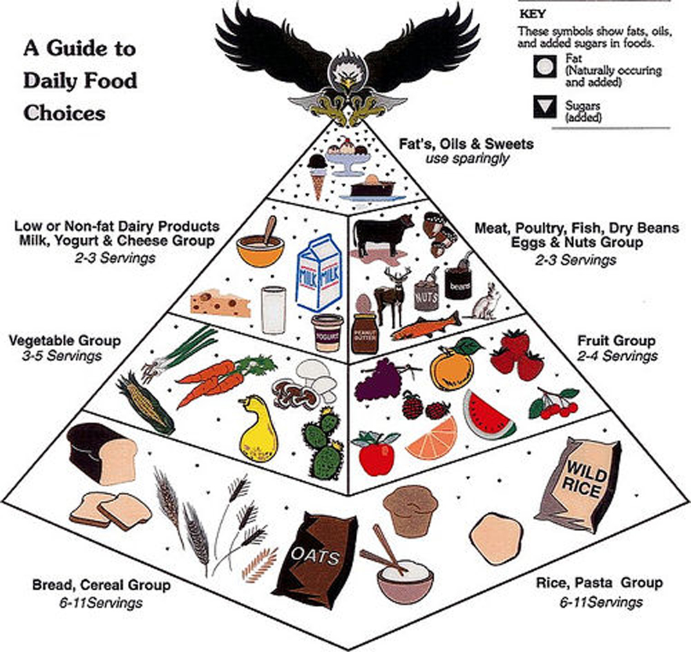 a food guide pyramid The usda replaced the food pyramid with an easier, illustrative myplate to help people track how much to eat of the food groups.
